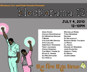 Blockorama Flyer, Syrus Marcus Ware, 2010, Illustration and Design