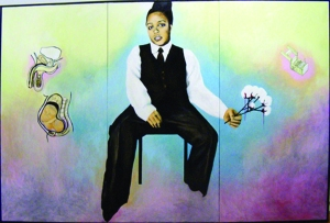 Syrus Marcus Ware- self portrait with cotton balls- 2006
