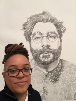 Portrait of Joshua Vettivelu, 6 ft x 12 ft, 2016