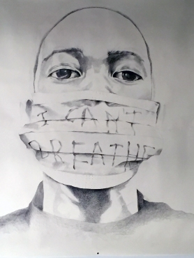 Their Borders Crossed Us: For Eric , 2015, 8 ft x 10 ft, Graphite on Paper
