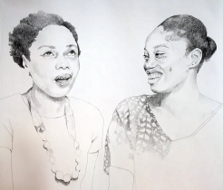 Portrait of Dainty Smith and Kyisha Williams