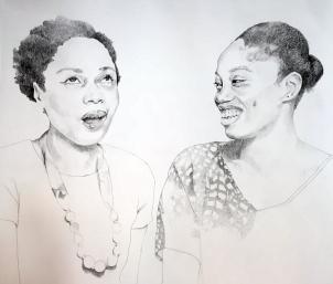 Portrait of Dainty Smith and Kyisha Williams
